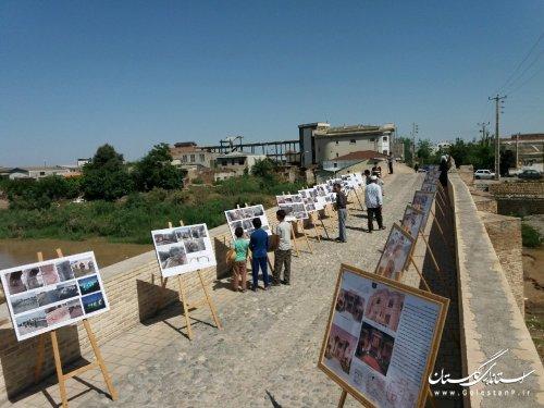 برگزاری نمایشگاه عکس از مراحل بازسازی و مرمت بناهای تاریخی استان گلستان