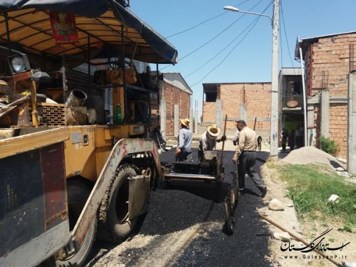 عملیات زیرسازی، لکه گیری و آسفالت معابر شهر کردکوی
