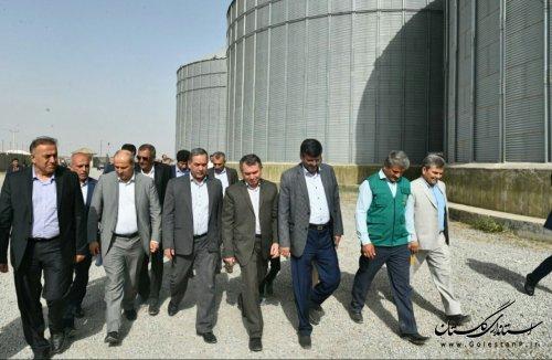 استاندار گلستان از سیلو ها و مراکز خرید گندم بازدید کرد