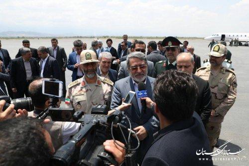 استان گلستان از نظر امنیتی وضعیت بسیار خوبی دارد