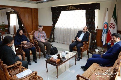 نشست جمعی از اعضای هیئت مدیره خانه مطبوعات استان با مدیرکل آموزش فنی و حرفه ای