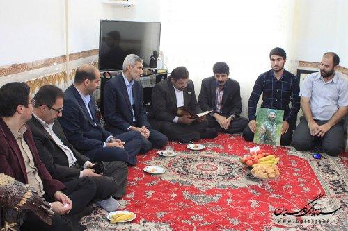دیدار با خانواده شهید مدافع حرم سیدرضا حسینی نوده
