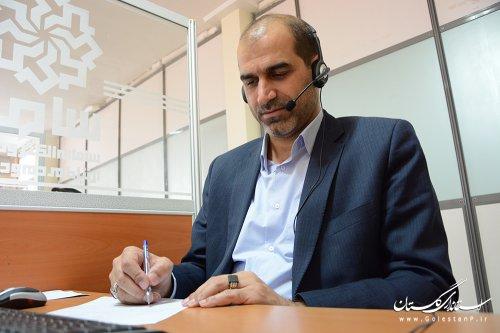 حضور مدیرکل آموزش فنی وحرفه ای استان گلستان در مرکز پاسخگویی سامد