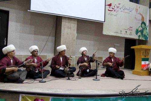 استقبال مردم گمیشان از نخستین جشنواره موسیقی ترکمن آوای ارادت
