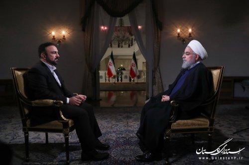 متن کامل گفت و گوی زنده تلویزیونی رییس جمهوری با مردم ایران اسلامی