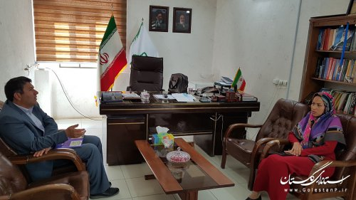 نشست صمیمی شهردار مراوه تپه با رئیس شبکه بهداشت شهرستان