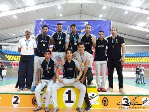 دانشگاه علمی کاربردی استان گلستان قهرمان مسابقات والیبال پسران دانشجوی کشور شد