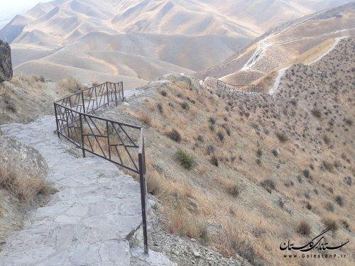 85 درصد پیشرفت فیزیکی سنگ فرش مسیر گورستان تاریخی خالد نبی