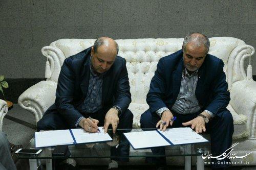 به منظور انجام عملیات آبخیزداری در استان گلستان؛ استاندار گلستان و رییس سازمان جنگلها، مراتع و آبخیزداری کشور تفاهم نامه همکاری امضا کردند