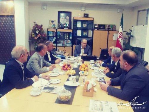 جلسه مشترک استاندار گلستان با نمایندگان مردم استان در مجلس برگزار شد