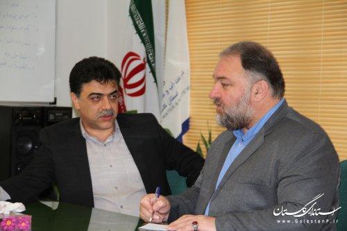 دیدار نماینده مردم گرگان و آق قلا در مجلس شورای اسلامی  با مدیرعامل شرکت آبفار گلستان