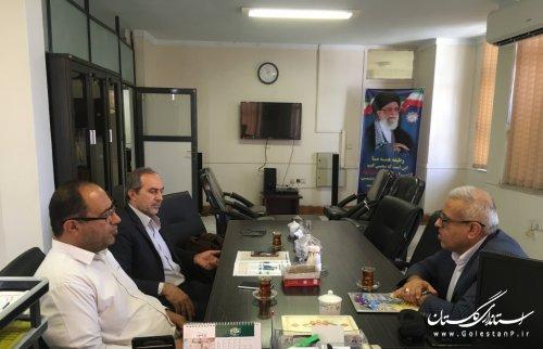 نشست هم اندیشی مدیرکل پدافند غیرعامل با رییس دانشگاه فرهنگیان و رئیس صندوق ذخیره فرهنگیان استان
