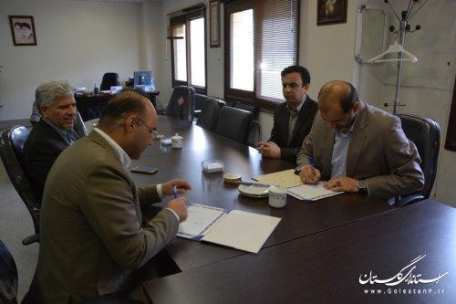 امضاء تفاهمنامه مابین اداره کل آموزش فنی وحرفه ای و دفترامورروستایی استانداری گلستان