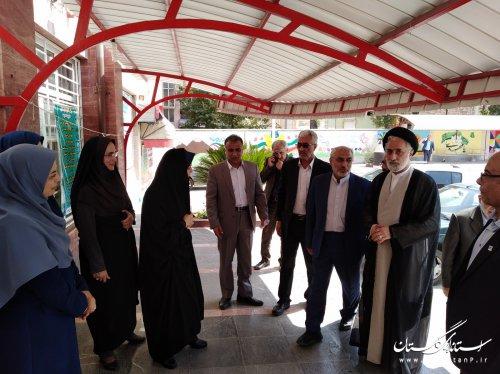 حضور اعضای کمیسیون آموزش، تحقیقات و فن آوری مجلس شورای در مدارس شهرستان گرگان