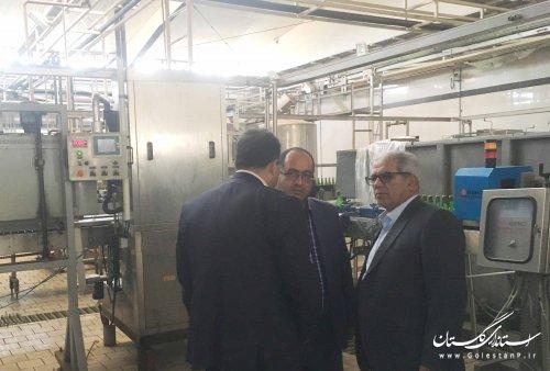 بازدید مدیرکل پدافند غیرعامل استان از کارخانه زمزم گرگان