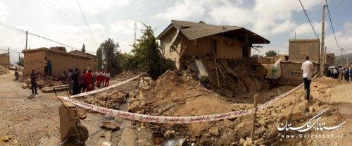 جراحت 3 نفر در روستای سیب چال بر اثر ریزش آوار