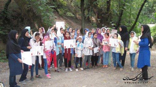 اردوی فرهنگی و پویش فصل گرم در دل جنگل چلچای مینودشت