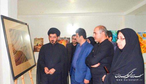 """افتتاح نمایشگاه با عنوان """" مهمان کربلا"""" در شهرستان بندرگز"""