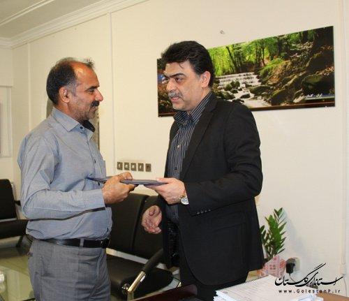 انتصاب در شرکت آب و فاضلاب روستایی استان گلستان