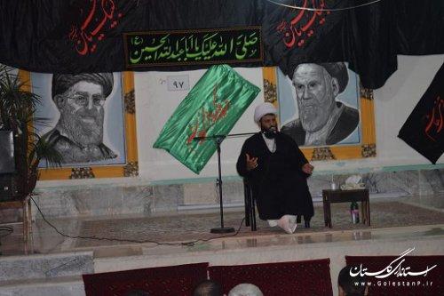 برگزاری سخنرانی امام جمعه کوهسارات در زندان گنبد