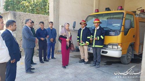 تجلیل از آتش نشانان شهر مراوه تپه به مناسبت روز آتش نشانی و خدمات ایمنی