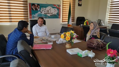 نشست مشترک شهردار مراوه تپه با رئیس اداره محیط زیست