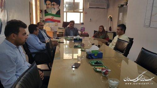 جلسه هم اندیشی شهردار و اعضای شورای شهر ، با مدیر آموزش و پرورش شهرستان برگزار شد