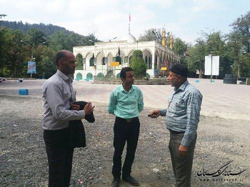 تحویل پروژه زیرساخت های گردشگری امامزاده طیب قرن آباد به دستگاه بهره بردار
