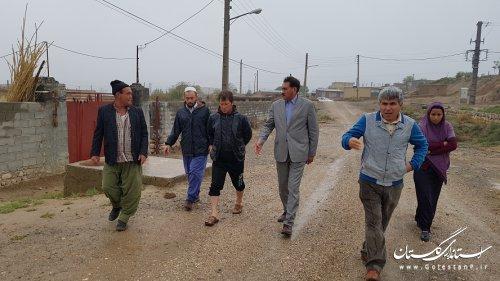 بازدید شهردار و رئیس شورای شهر مراوه تپه از معابر و محله های سطح شهر