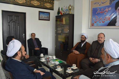 دیدار مدیر کل زندانهای استان گلستان با نماینده ولی فقیه در امور اهل سنت مرکز بزرگ اسلامی شمال کشور