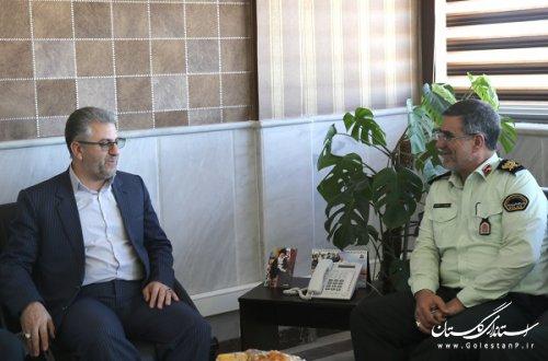 مدیر کل راه آهن شمالشرق ۲ با فرماندهی نیروی انتظامی استان دیدار نمود