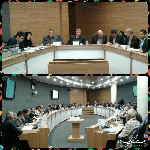 ششمين جلسه كارگروه امور زير بنايي و شهرسازي گلستان برگزارشد