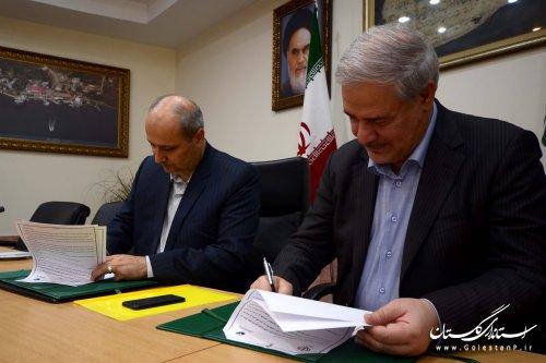 استانداری گلستان و پست بانک ایران تفاهم نامه همکاری امضا کردند