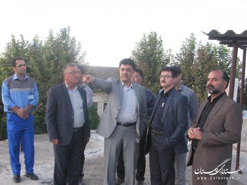 بازدید مدیرعامل آبفار گلستان از مجتمع آبرسانی آق امام