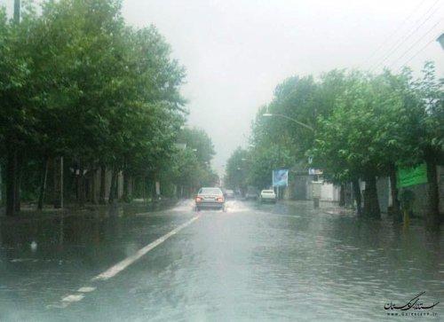 اخطاریه هواشناسی/ بارش باران، رعد و برق، احتمال آبگرفتگی معابر و سیلاب ناگهانی در گلستان