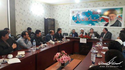 جلسه هم اندیشی بررسی مشکلات روستاهای بخش وشمگیر از توابع شهرستان آق قلا