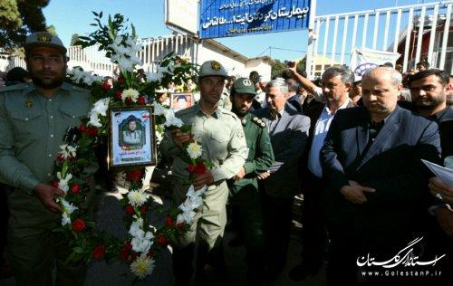 مراسم تشییع پیکر محیطبان شهید گلستانی در گنبدکاووس برگزار شد