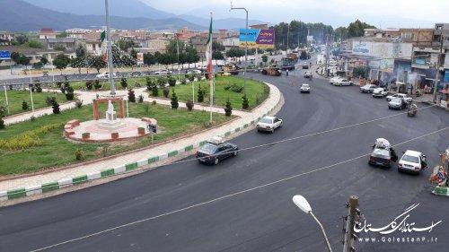 روکش آسفالت میدان حکیم میرفندرسکی شهر خان ببین
