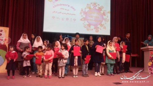 """مراسم اختتامیه """"مسابقه نقاشی پنجره کودکان، ویژه کودکان 3 تا18 سال"""" در گرگان"""