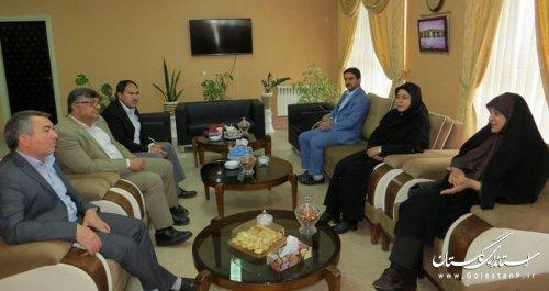 دیدار مدیرکل فرهنگ و ارشاد اسلامی گلستان با فرماندار آق قلا
