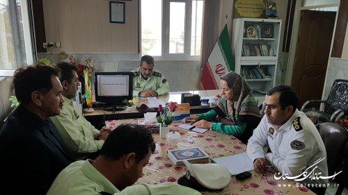 دیدار شهردار و رئیس شورای اسلامی شهر مراوه تپه با فرماندهی انتظامی شهرستان