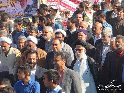 حضور حماسی مردم فاضل آباد در راهپیمایی روز مبارزه با استکبار جهانی