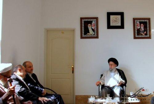 دیدار رئیس بازرسی سازمان پدافندغیرعامل کشور با آیت الله نورمفیدی و استاندارگلستان