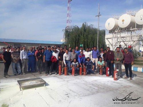 برگزاری دوره آموزشی ایمنی و آتش نشانی در شرکت نفت گلستان