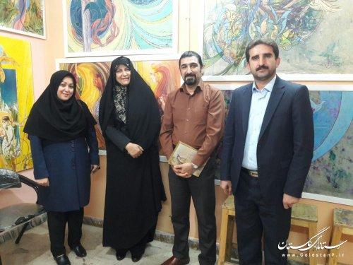 دیدار مدیرکل فرهنگ و ارشاد اسلامی گلستان با هنرمند عرصه تجسمی و پویا نمایی شهرستان گرگان