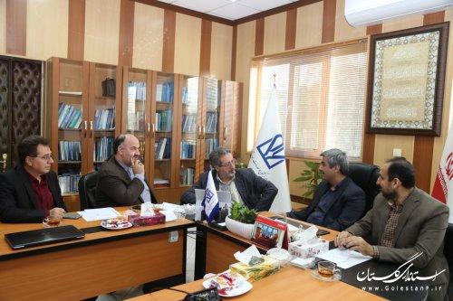 دیدار مدیرکل زندانها و رییس دانشگاه علوم پزشکی و خدمات درمانی استان گلستان