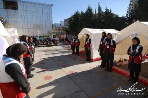 مانور سراسری زلزله و ایمنی در مدارس برگزار شد