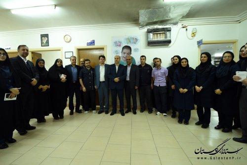 بازدید استاندار گلستان از ﻣﺮکز ﺗﻮاﻧﺒﺨشی نگهداری معلولین ذهنی باب الحوائج گرگان