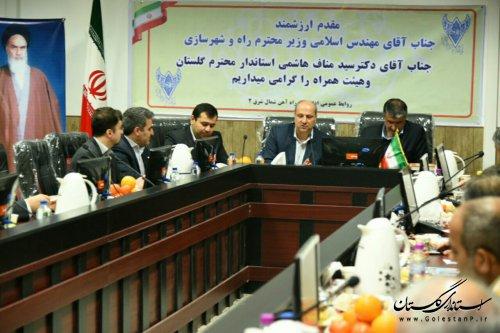 حوزه راه و حمل و نقل گلستان نیازمند توجه جدی وزارت راه و شهرسازی است