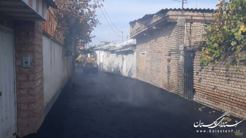 اجرای  آسفالت معابر شهر خان ببین